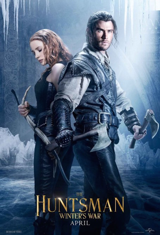 The Huntsman Winter's War_1849352960_Chris Hemsworth and Jessica Chastain in The Huntsman Winter's War (2016)