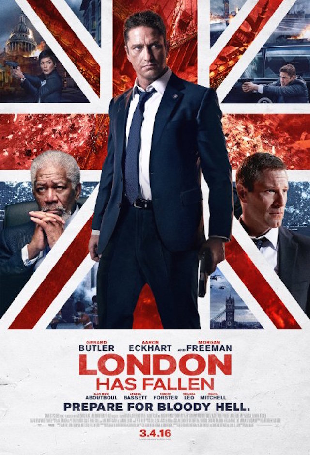 London Has Fallen_2285037312_Morgan Freeman, Aaron Eckhart and Gerard Butler in London Has Fallen (2016)